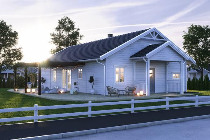 Bild: tomt på Kälkbacken 9, Enköpings kommun