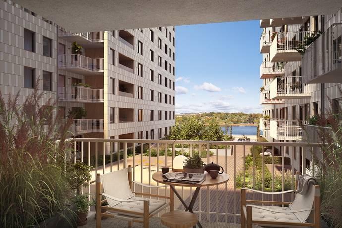 Bild: 4 rum bostadsrätt på Önologgatan 2, Stockholms kommun Liljeholmskajen