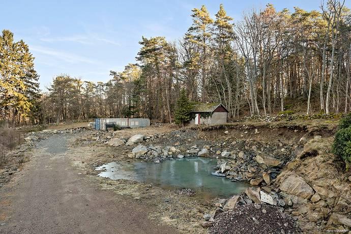 Bild: tomt på Lyckekullavägen 48, Kungsbacka kommun Särö