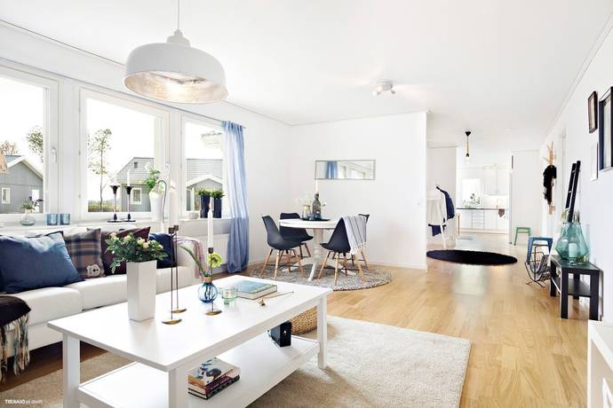 Bild: 4 rum radhus på Skräddaregatan 129, Varbergs kommun Tvååker