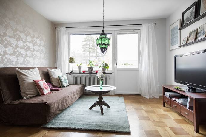 Bild: 1 rum bostadsrätt på Harpsundsvägen 157, Stockholms kommun Högdalen