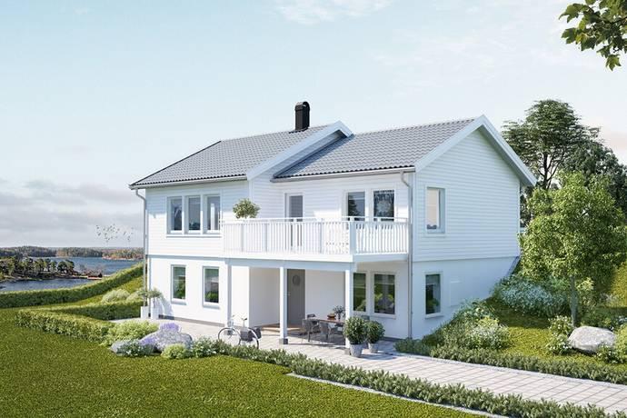 Bild: 5 rum villa på Lilla Bråtavägen 60, tomt 13, Lerums kommun Lerum- Lilla Bråta