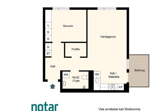 Bild: 2 rum bostadsrätt på Småbrukets Backe 16, Huddinge kommun