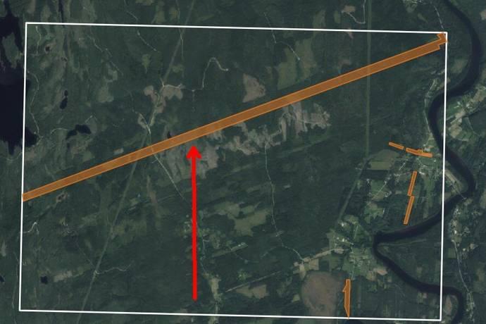 Bild: gård/skog på Västra Skymnäs Görfolk, Hagfors kommun Västra Skymnäs