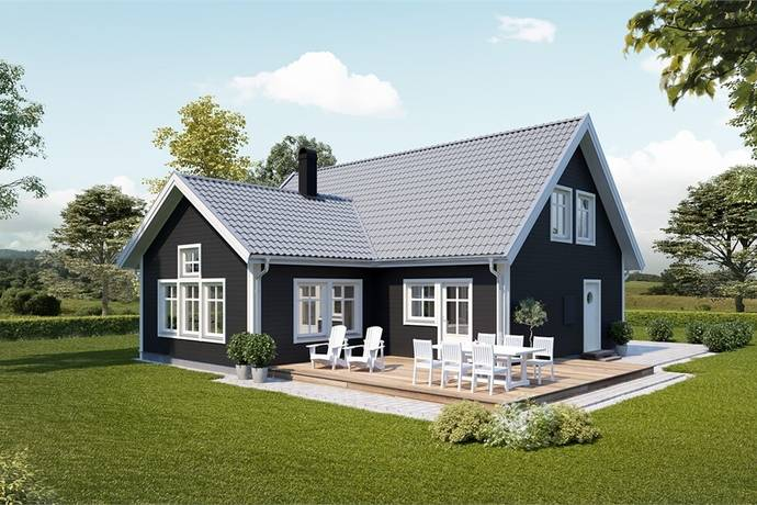 Bild: 3 rum villa på Skiftesvägen 32, Kristianstads kommun Färlöv