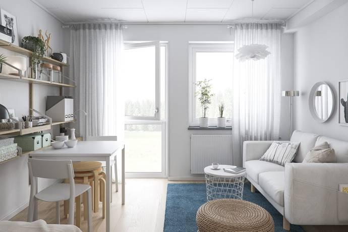 Bild: 1 rum bostadsrätt på Lantgårdsvägen 21 D/1201, Vänersborgs kommun Holmängs Hage