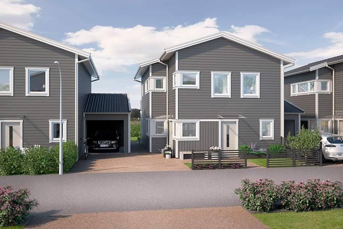 Bild: 5 rum radhus på Basfiolvägen 26, Falkenbergs kommun Dals Ängar
