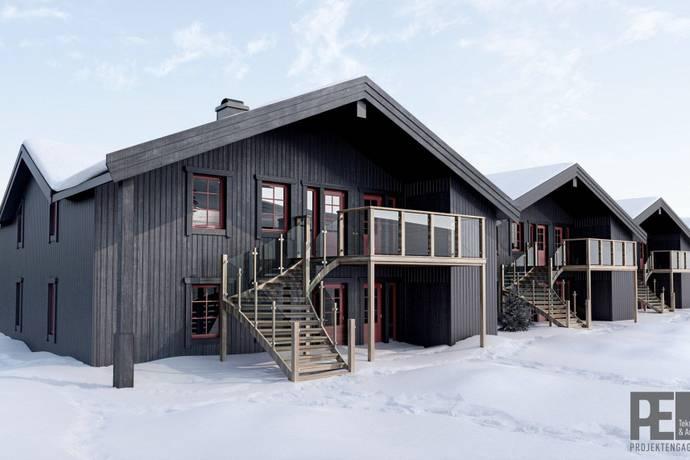 Bild från Obelånad förening med ski-in, ski-out läge på Sälfjällstorget, Lindvallen