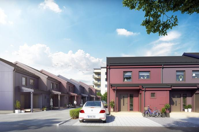 Bild: 4 rum radhus på Skrivargatan 22, Sundbybergs kommun Ursvik