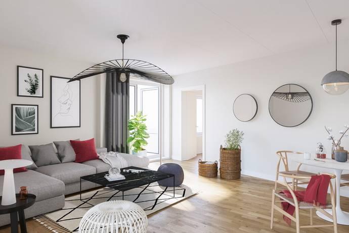 Bild: 3 rum bostadsrätt på Helmfeldtsgatan, Halmstads kommun Centrum