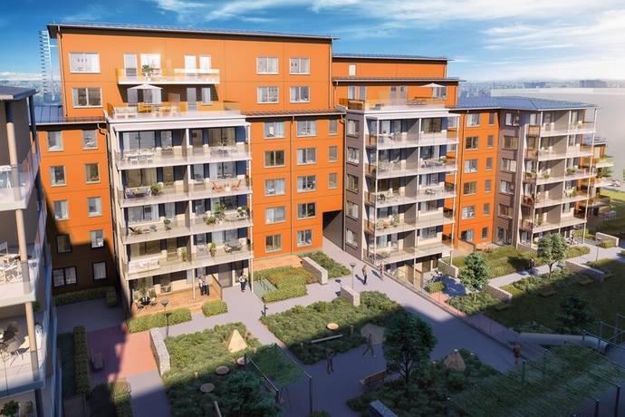 Bild: 3 rum bostadsrätt på Virkesvägen 9B, Stockholms kommun Hammarby Sjöstad