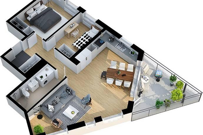 Bild: 3 rum bostadsrätt på Smörblomsgatan 1, Västerås kommun Gideonsberg