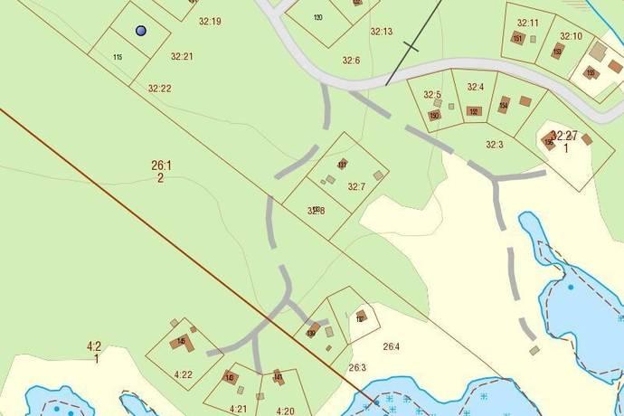 Bild: tomt på Grovsand 113, Robertsfors kommun Grovsanden