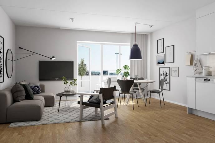 Bild: 2 rum bostadsrätt på Glasbrukskajen, A1303, Malmö kommun Limhamns sjöstad