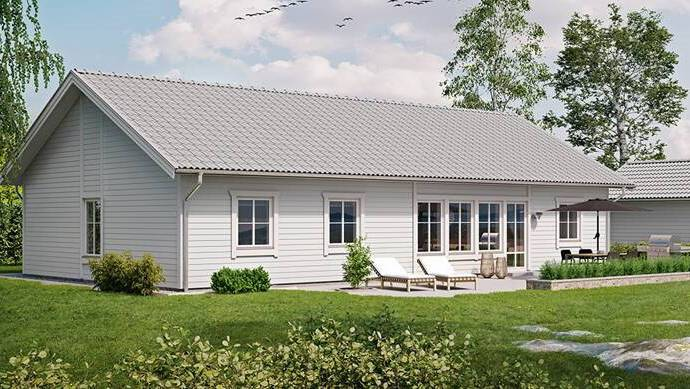 Bild: villa på Blåregnsgången 7, Lunds kommun