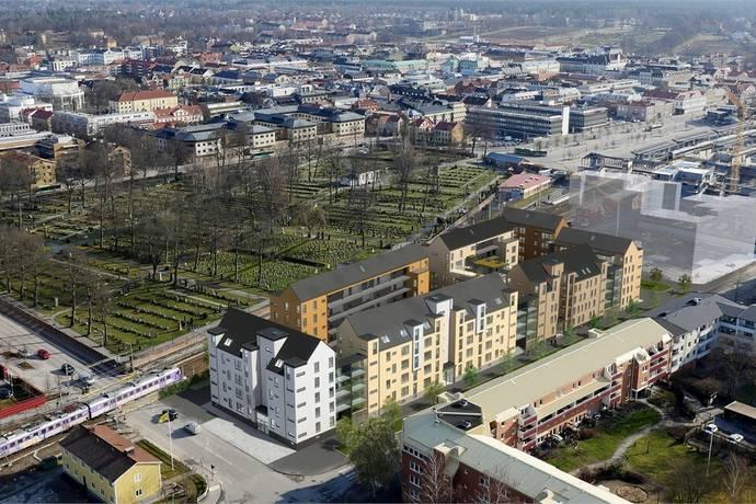 Bild: 2 rum bostadsrätt på Södra Järnvägsgatan/Drottninggatan, Växjö kommun Centrum