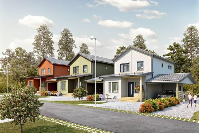 Bild: 5 rum radhus på Björnövik hus 1013, Smedtorpsvägen, Norrtälje kommun Björnövik
