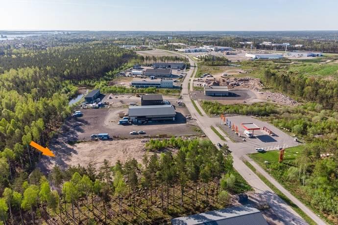 Bild: tomt på Lunnargatan 24, Västerviks kommun