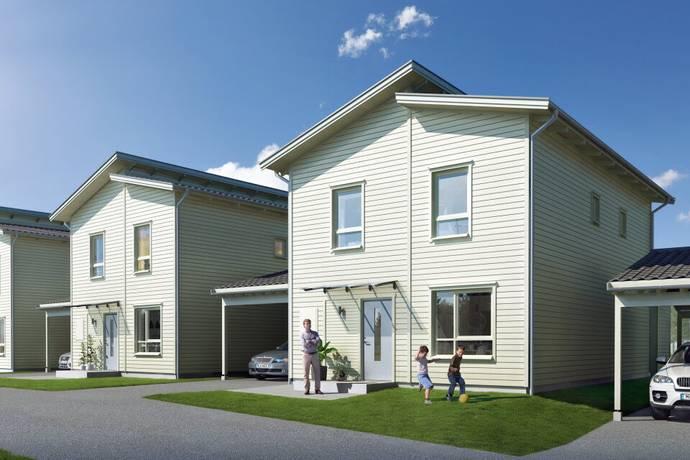 Bild: 5 rum radhus på Planetbacken etapp 3, hus 11, Botkyrka kommun Solhöjden
