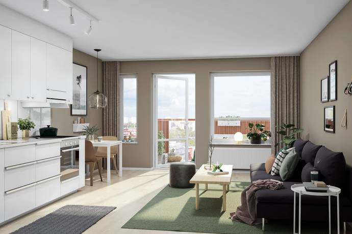Bild: 1 rum bostadsrätt på Årstaskogs Väg 9B, Stockholms kommun Årstaberg