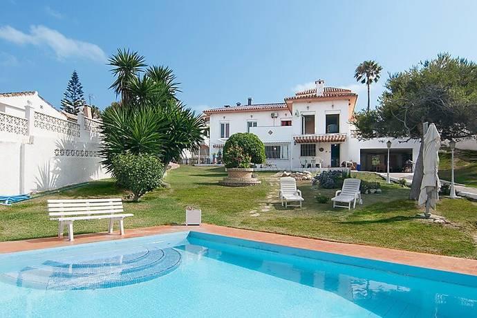 Bild: 7 rum radhus på Villa med stor tomt och 100 meter till stranden., Spanien Mijas Costa