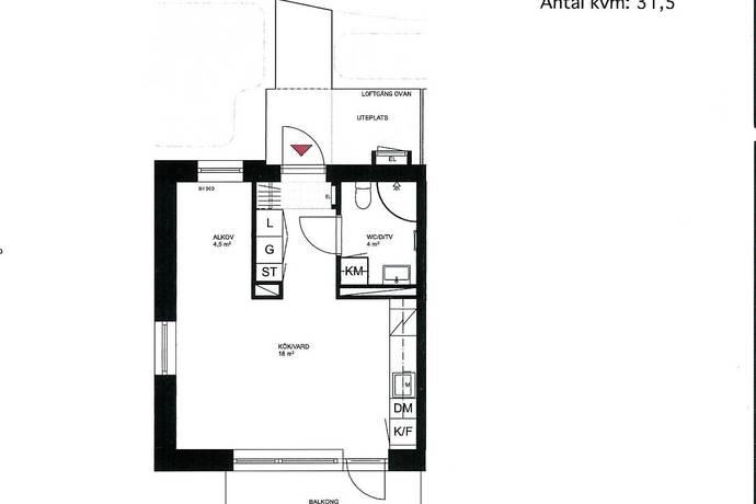 Bild: 1,5 rum bostadsrätt på Ladugårdsgatan 10, 1 tr, Sundbybergs kommun Ursvik