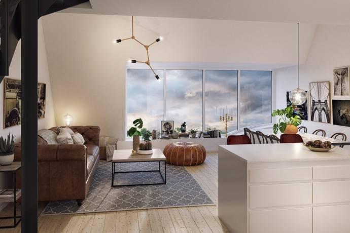 Bild: 3 rum bostadsrätt på SKOFABRIKEN: Zenitgatan/Industrigatan, Malmö kommun Södra Innerstaden