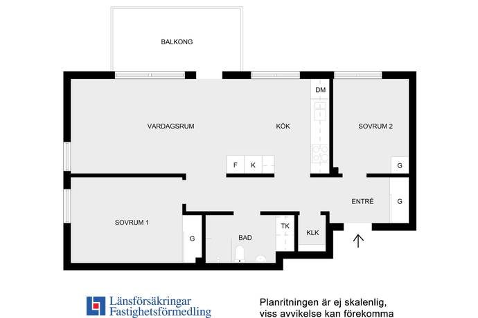 Bild: 3 rum bostadsrätt på Sagagatan 11, Solna kommun Solna Centralt