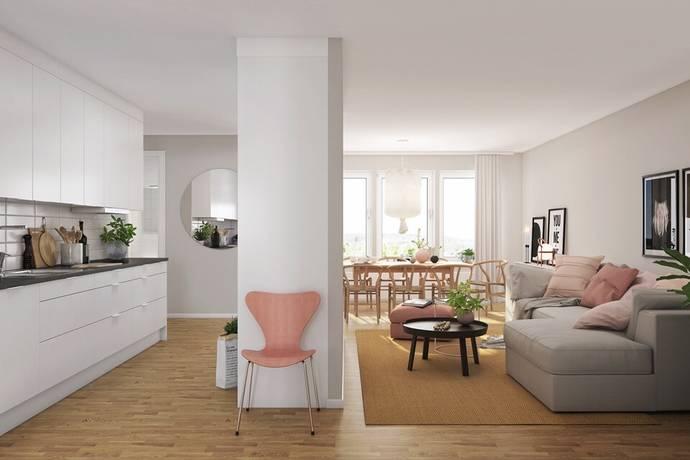 Bild: 3 rum bostadsrätt på Skärvstensgatan, Umeå kommun Mariehöjd