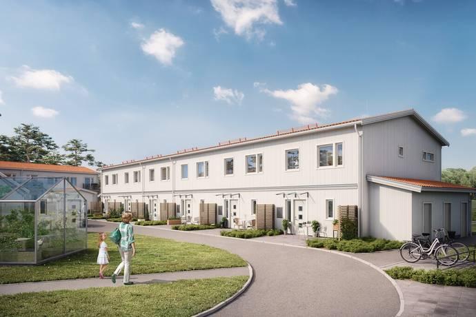 Bild: 4 rum radhus på Hälltorps Gård, Trollhättans kommun