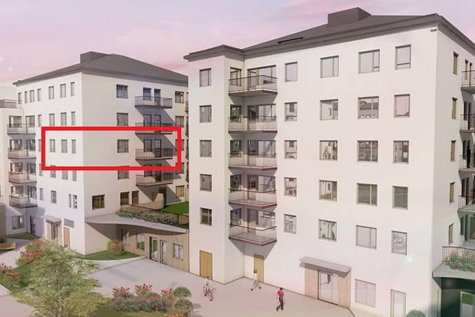 Bild: 3 rum bostadsrätt på Hovslagarevägen 23, Sollentuna kommun Edsberg