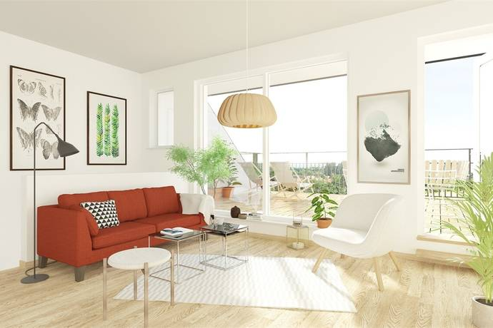 Bild: 4 rum bostadsrätt på Trombgatan 14, Ystads kommun Västra Sjöstaden