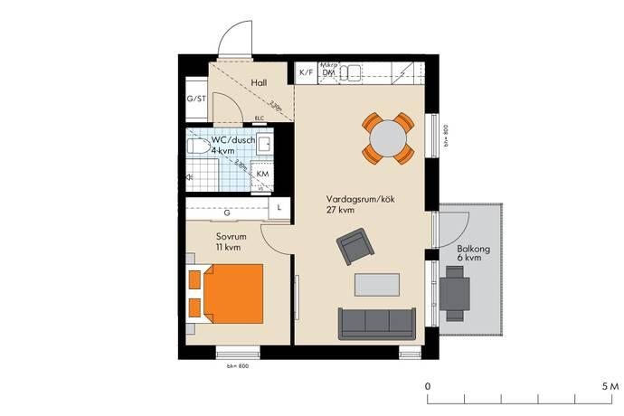 Bild: 2 rum bostadsrätt på Edla Sofias Gata 14, Värmdö kommun Gustavsberg