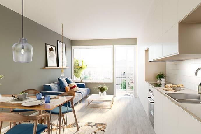 Bild: 2 rum bostadsrätt på Ursviks allé 21, 3tr, Sundbybergs kommun Ursvik