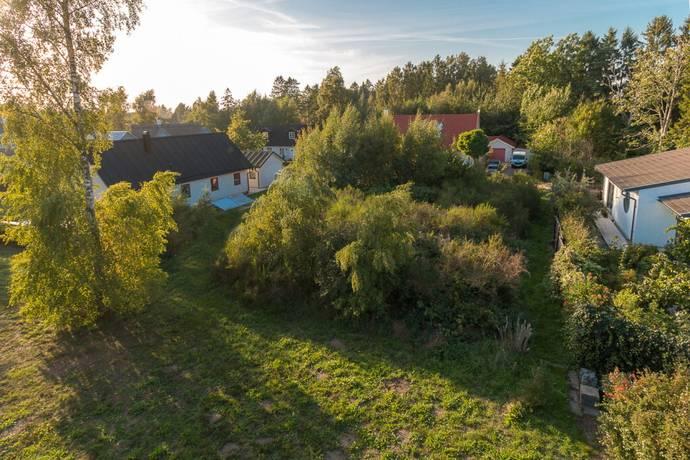 Bild: tomt på Vitsippevägen 11, Trelleborgs kommun Beddingestrand
