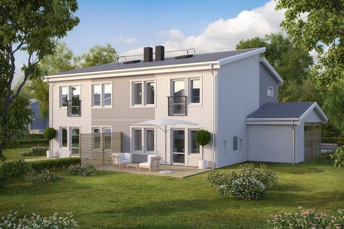 Bild: 5 rum radhus på Gråsparvvägen 1, Östersunds kommun