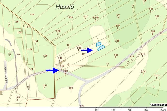 Bild: tomt på Sandrydsvägen, Karlskrona kommun Hasslö