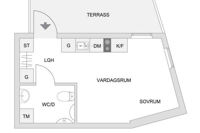 Bild: 1 rum bostadsrätt på Härnevi Skolväg 9, Upplands-Bro kommun