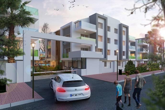 Bild: 2 rum bostadsrätt på Antalya id 10118 lägenhet 1+1, Liman, Turkiet Konyaalti