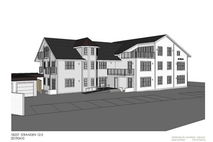 Bild: bostadsrätt på Fridhemsgatan 3  Nyproduktion 14 st lägenheter i centrala Mora, Mora kommun Mora Centrum