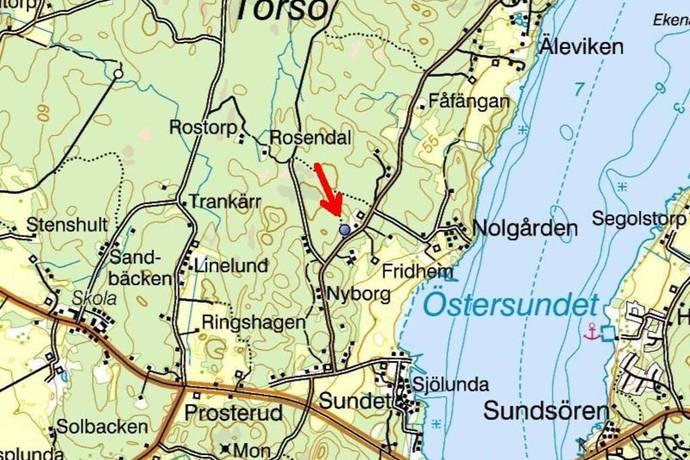 karta över torsö Klippingsbergsvägen i Torsö, Torsö   Tomt till salu   Hemnet karta över torsö
