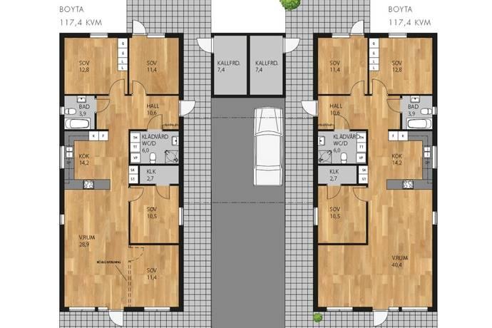 Bild: 5 rum radhus på Lyckornas Väg 9, Vaggeryds kommun Vaggeryd
