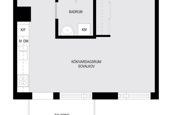 Bild: 1 rum bostadsrätt på Boplatsvägen 2, Sundbybergs kommun Brotorp/Järvastaden