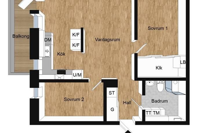 Bild: 3 rum bostadsrätt på Mölndalsvägen 87B, Göteborgs kommun SÖDRA CENTRUM