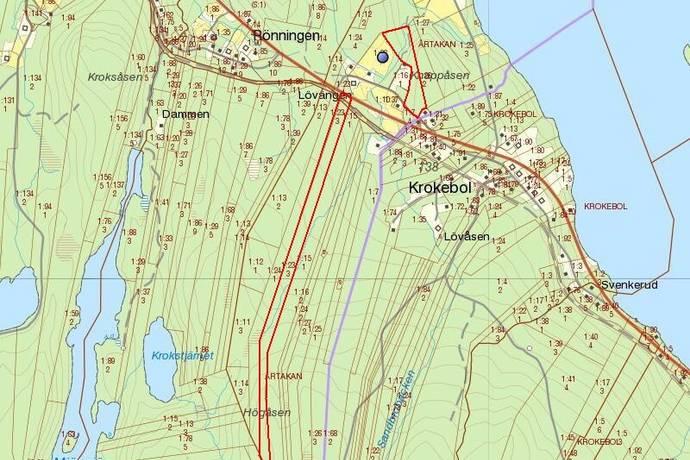 Bild: gård/skog på Årtakan Nygård, Eda kommun Eda