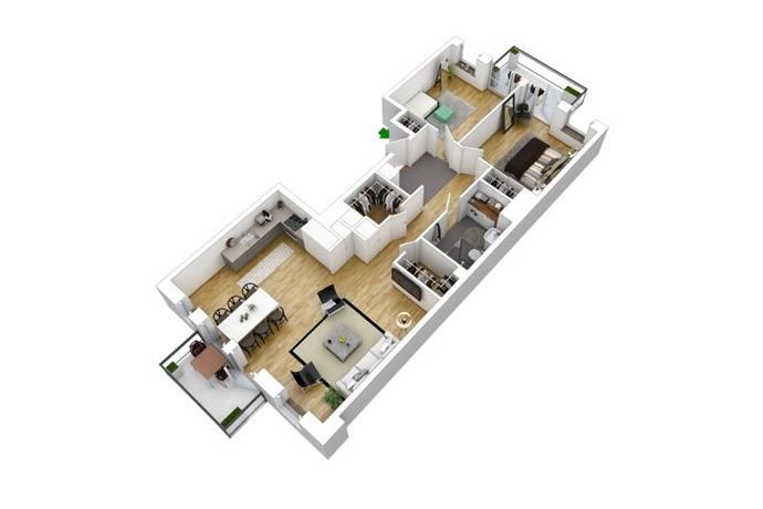 Bild: 3 rum bostadsrätt på Brogatan, Stockholms kommun Norra Djurgårdsstaden