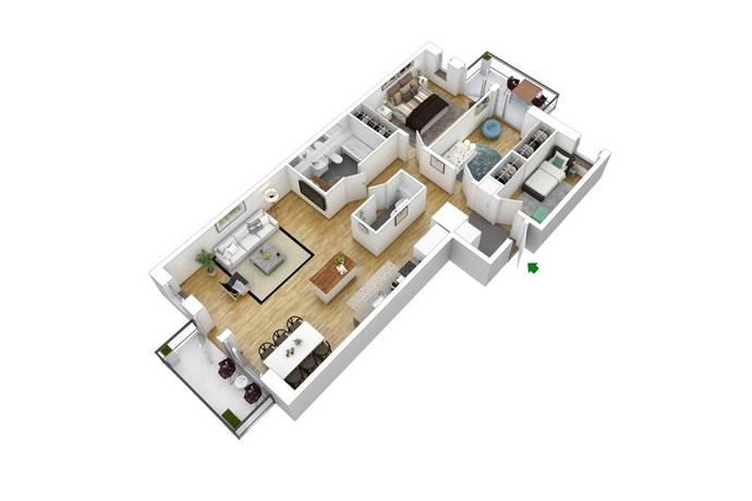 Bild: 4 rum bostadsrätt på Brogatan, Stockholms kommun Norra Djurgårdsstaden
