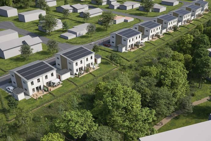 Bild från Brf Jällby Park - Brf Jällby Park-Nytt bostadsrättsprojekt med 16st parhus i Borås!