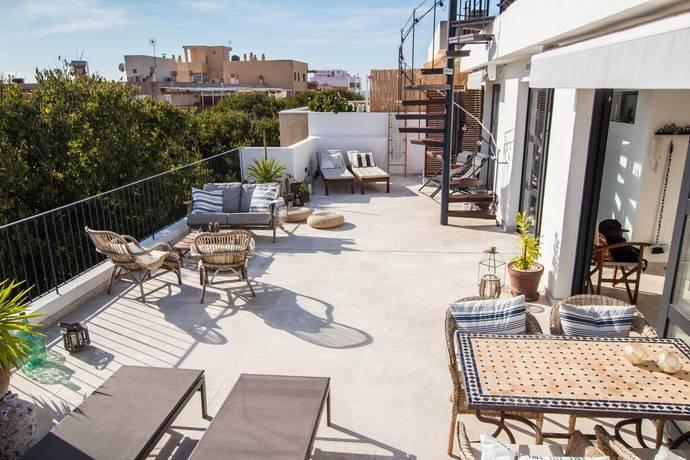 Bild: 4 rum bostadsrätt på Taklägenhet med stor terrass i Molinar, Palma de Mallorca, Spanien Molinar, Palma de Mallorca