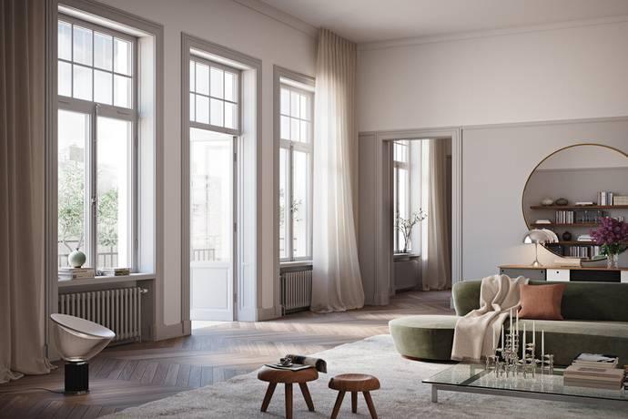 Bild: 3 rum bostadsrätt på Nybrogatan 19 - Lgh 03.1403, Stockholms kommun Östermalm